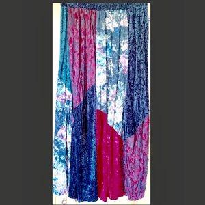 Vintage Judy Knapp Velvet Patchwork Skirt L